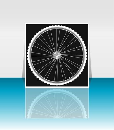 Bike wheel - flyer or cover design Vector