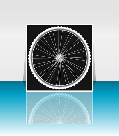 tire cover: Bike wheel - flyer or cover design