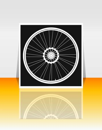 tire cover: Bicycle wheel on flyer or cover Illustration