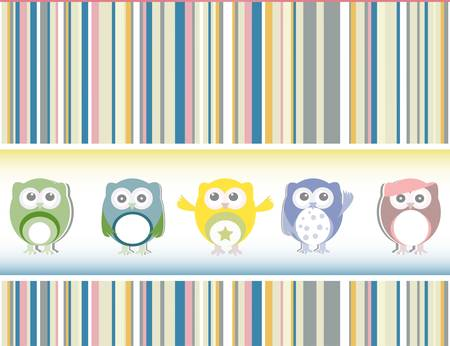 Cute owl card - holiday concept Stock Vector - 16048966