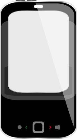 black smartphone isolated on white background Stock Vector - 16048953
