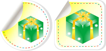 Gift stickers set - holiday concept photo