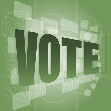 The word vote on digital screen, social concept Stock Photo - 16210172