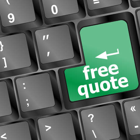 Key for free quote - business concept Stock Photo - 16352306