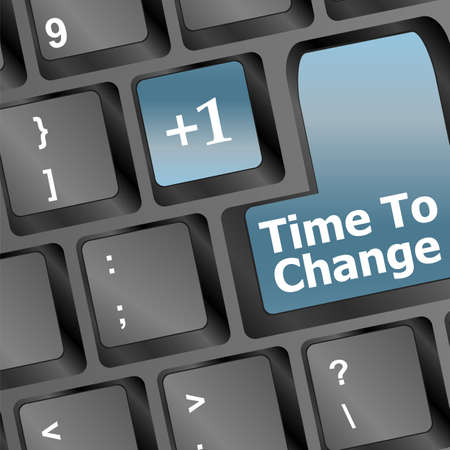 time to change key on keyboard showing time concept Stock Photo - 16352301