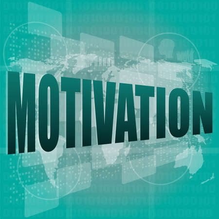 words motivation on digital screen, job and business concept Stock Photo - 16468813