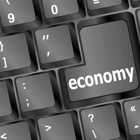 economy black button on computer keyboard Stock Photo - 16468781