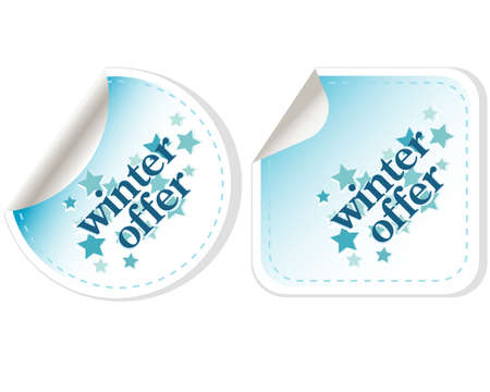 winter sale. christmas offers stickers set Stock Photo - 16525500