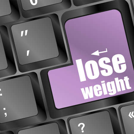 Lose weight in place of enter computer key photo