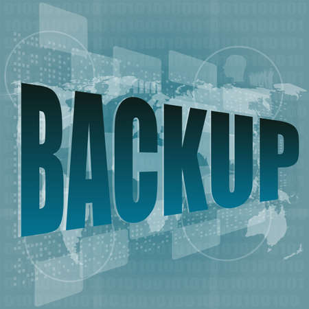 word backup on digital screen - business concept Stock Photo - 16525637