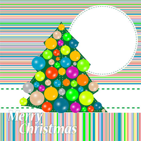Christmas and New Year tree. holiday background photo