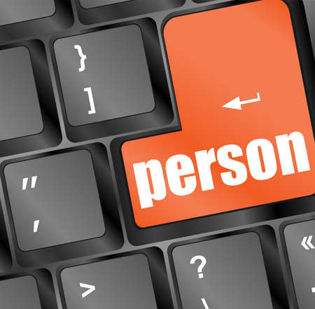 word person on computer keyboard key Stock Photo - 16559855