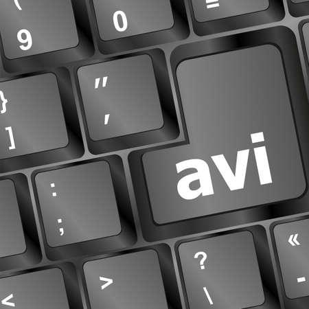Closeup of avi key in a modern keyboard Stock Photo - 16656165