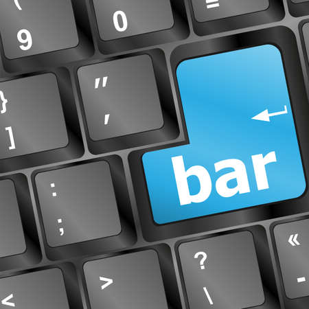bar button on the digital keyboard Stock Photo - 16656212