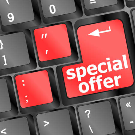 special offer button on computer keyboard Stock Photo - 16656233