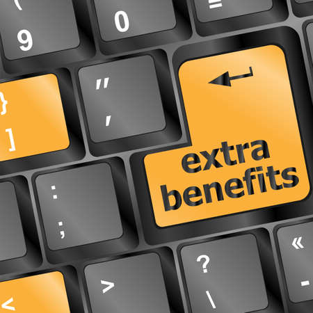 extra benefits button on keyboard - business concept Stock Photo - 16656230