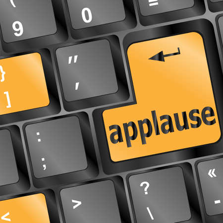 Computer keyboard with applause key - business concept Stock Photo - 16656226