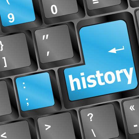 Laptop keyboard and key history on it Stock Photo - 16656225