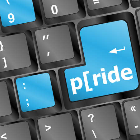 Computer keyboard key with pride word Stock Photo - 16656224
