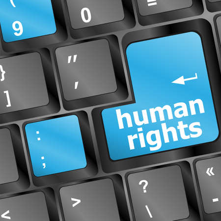 arrow button with human rights word on it photo