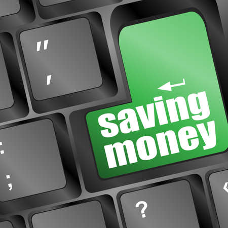 saving money for investment concept with a button on computer keyboard Stock Photo - 16656167