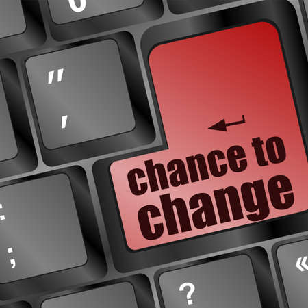 chance to change key on keyboard showing business success Stock Photo - 16656180