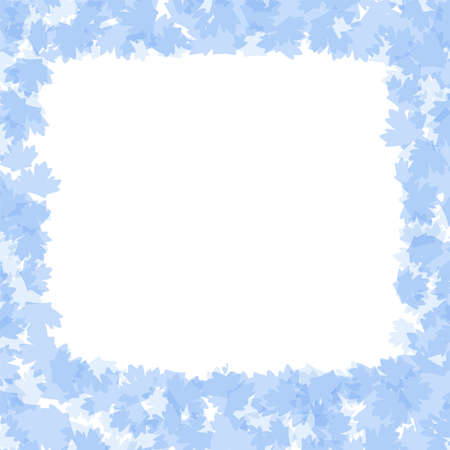 holiday frame with blue winter leaves photo