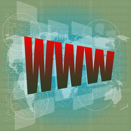 www words on digital screen Stock Photo - 16656235