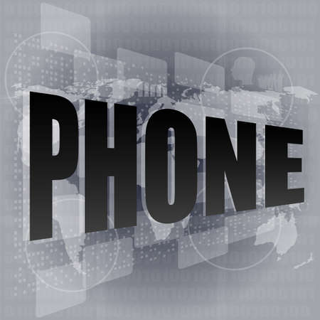 Phone word on abstract digital screen Stock Photo - 16686599