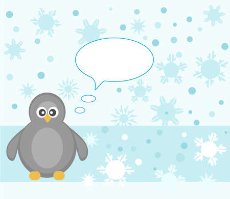 Penguin on snowy background Stock Photo - 16686559