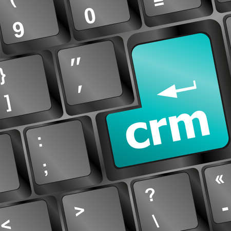 crm keyboard button on computer pc Stock Photo - 16799411