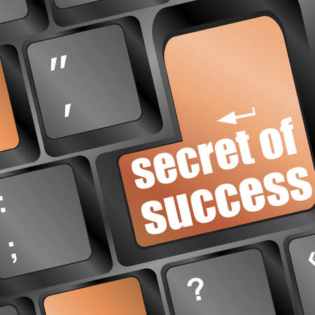 Computer keyboard with secret of success key Stock Photo - 16799404