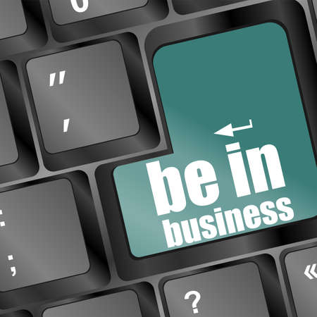 key with be in business text on laptop keyboard Stock Photo - 16799394