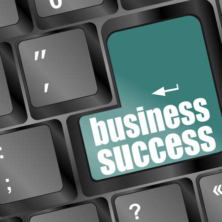 business success word on button or key showing motivation for job Stock Photo - 16799402