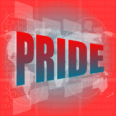 The word pride on digital screen Stock Photo - 16888450