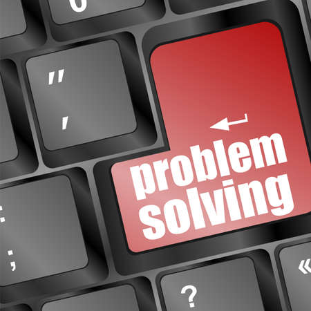 problem solving button on laptop keyboard Stock Photo - 16916759