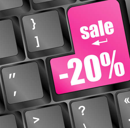 Sale key with percentage in place of enter key Stock Photo - 16944395