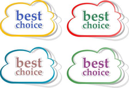 Retro speech bubbles set with best choice message Stock Photo - 16944398