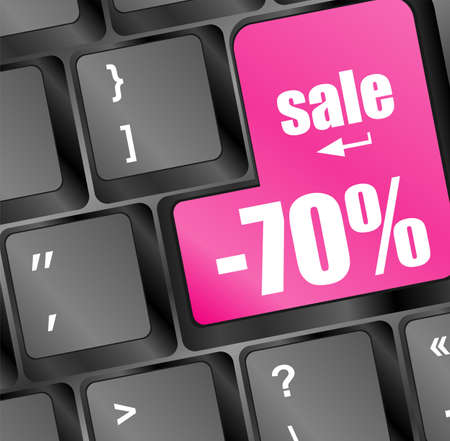 Modern keyboard with text sale on buttons Stock Photo - 17166228