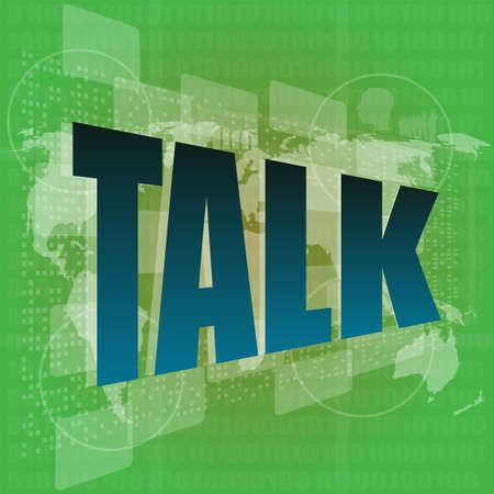 media  word talk on digital screen Stock Photo - 17166221