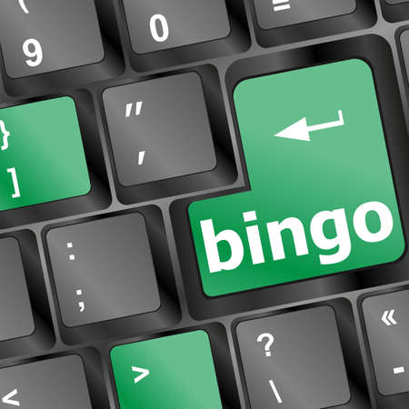 bingo words key button on the keyboard Stock Photo - 17166224
