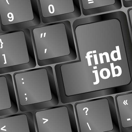 the find job enter button key Stock Photo - 17166240