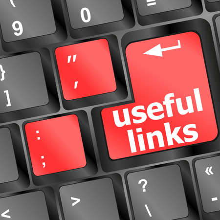 useful links keyboard button - business concept Stock Photo