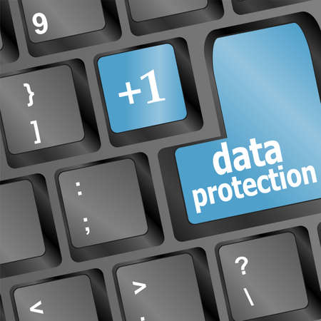 data protection button on the keyboard Stock Photo - 17166271