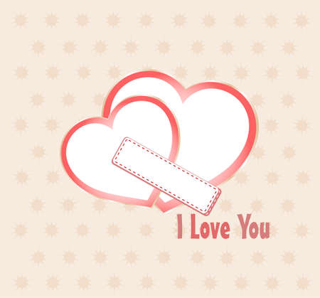 day saint valentin: Postal to the day of saint valentine with pair of heart