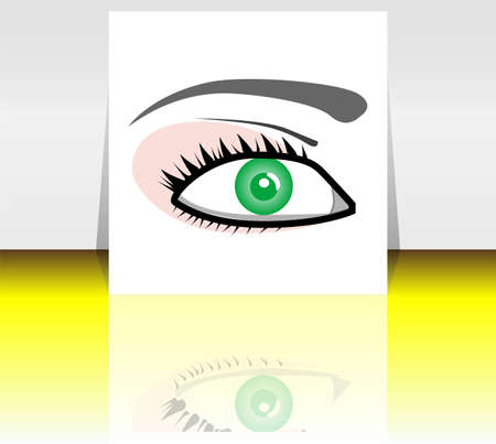 Beauty woman eyes on flyer or presentation Stock Photo - 17195411