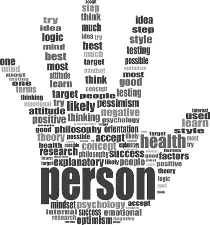 Like hand symbol with tag cloud of word Stock Photo - 17296909