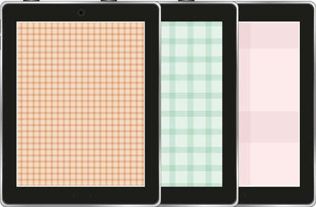 Collection of tablet pc isolated on white background photo
