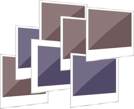 polaroid photo frame set on white background