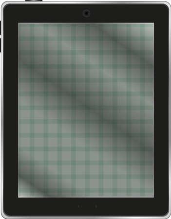 Black tablet pc on white background Stock Photo - 17335059